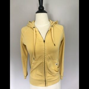 JCREW ladies yellow fleece zip hoodie - SZ - S